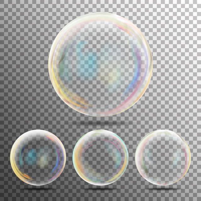 Realistic Soap Bubbles With Rainbow Reflection Vector And Png Soap Bubbles Rainbow Png Bubbles