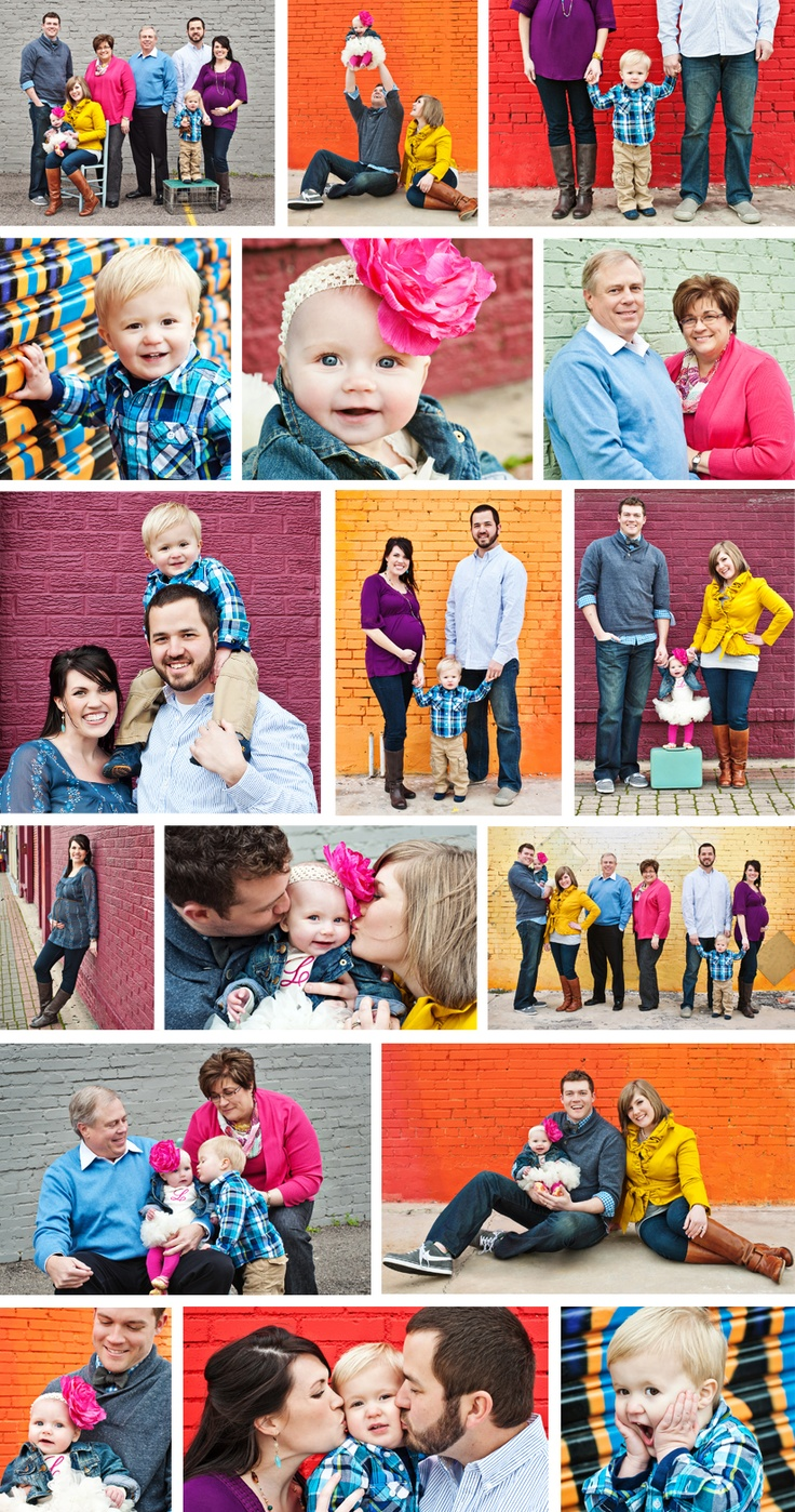 Dallas Child & Family Portrait Photographer | Family portraits in Deep Ellum with plenty of color, Dallas - Tracy Allyn Photography www.tracyallyn.com