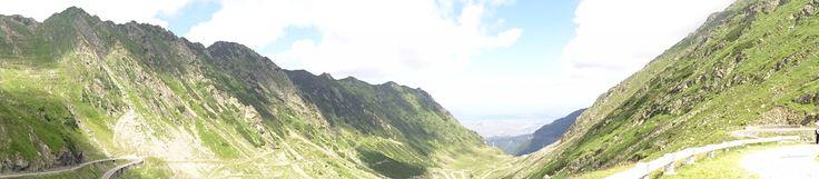 Vista panorámicade la carretera Transfagarasan.