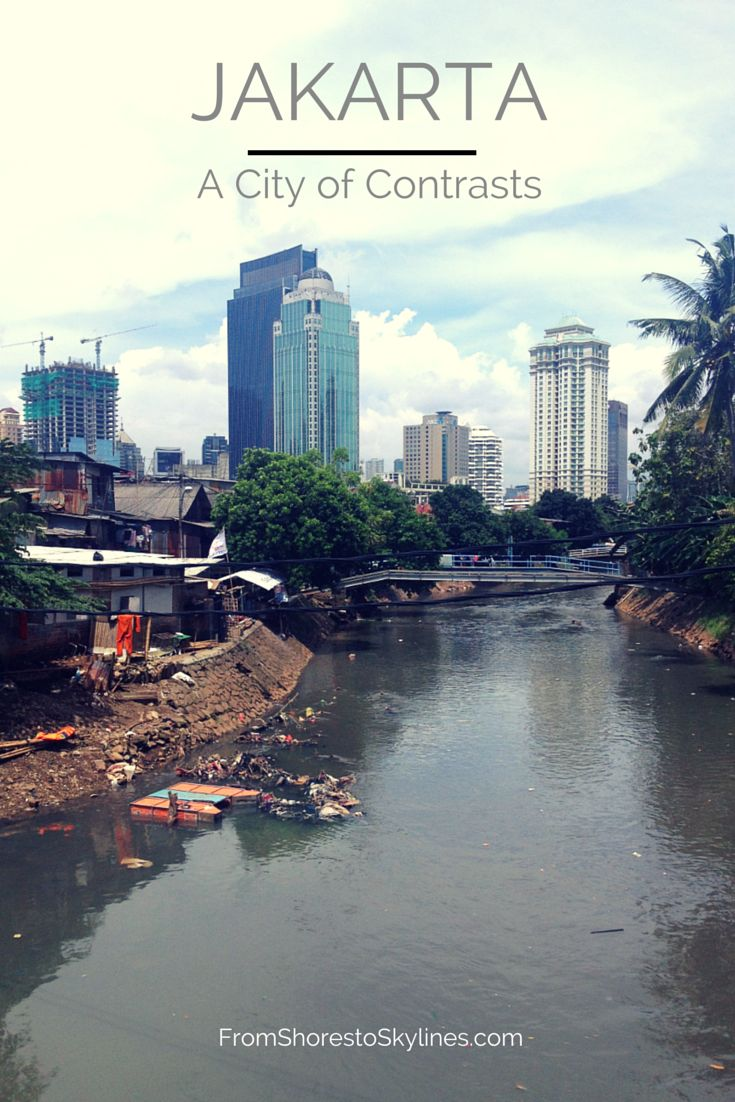 Jakarta, a city of contrasts. From shiny central Jakarta, to the urban kampungs