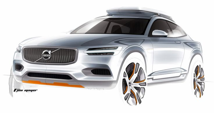 gashetka:  2014 | Volvo XC Coupe Concept | Design by T. Jon Mayer | Source