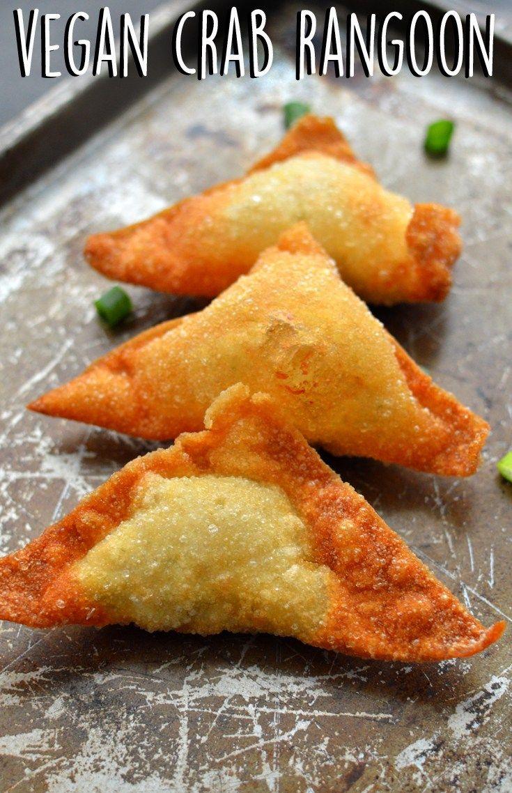 4 Vegan Fried Seafood Recipes - Vegan Calamari - Vegan Crab Cakes - Vegan Crab Rangoon - Vegan Fish Sticks - Hearts of Palm - Dinner / Lunch - Rich Bitch Cooking Blog