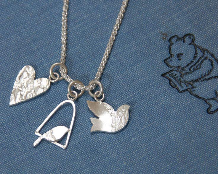handmade silver charm necklace by jemima lumley jewellery | notonthehighstreet.com