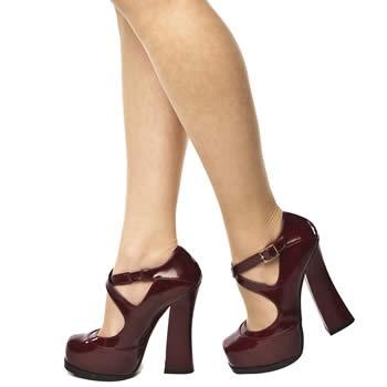 Get the look: Women's Burgundy Schuh Dita Strap Heel at Schuh
