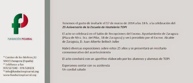 GASTRONOMÍA EN ZARAGOZA: Celebración Aniversario de la Escuela Hostelería T...