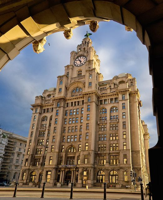 Royal Liver Building - Liverpool, England. Went to Liverpool last Easter, great city.