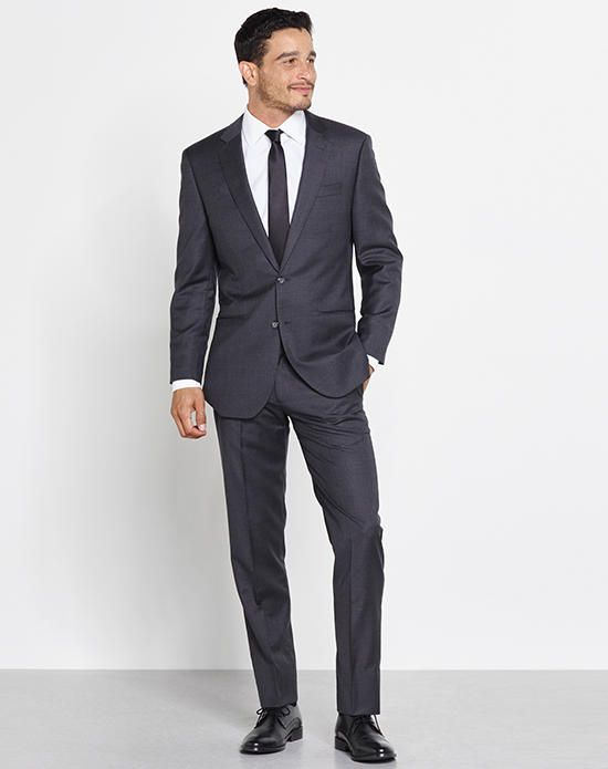 The grooms men and ushers could wear this one: The Black Tux The Huxley Outfit Wedding Tuxedo - The Knot