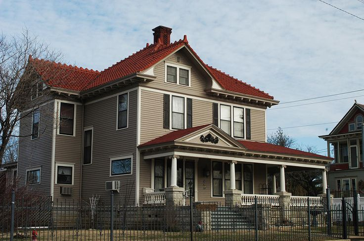 Restored Home With Red Tile Roof Photograph Historic