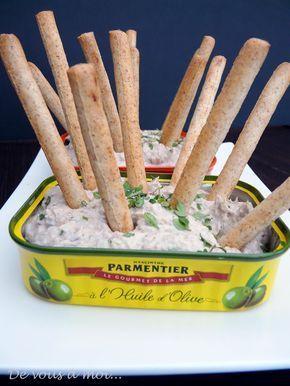 Mousse de sardines et gressins ★★★★★★★★★★★★★★★ Simple, et populaire.Régalez-vous avec cette mousse de sardine au fromage de chèvre et au citron, lors de vos vacances dans les résidences Cerise, ou les studios sont équipés de kitchenettes. Listes des Résidences Hôtelières CERISE: http://www.cerise-hotels-resorts.com/fr/hotels-residences.html