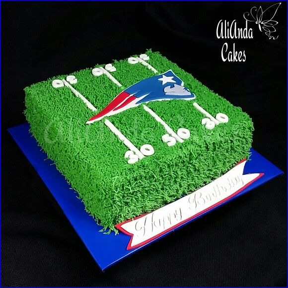 New England Patriots cake by AliAnda Cakes.
