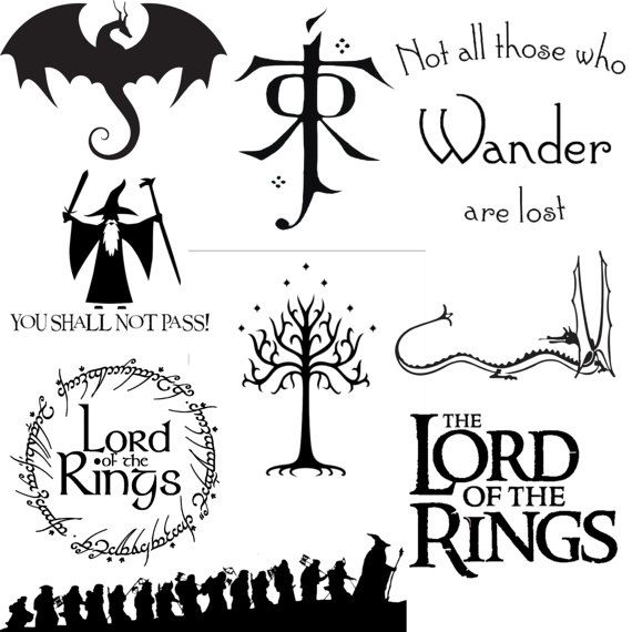 LOTR Lord Of The Rings Decal by HarusArt on Etsy
