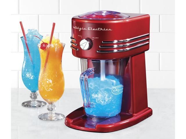 Frozen Drink Machine Beverage Maker Slush Maker Shaved Ice Slushie Retro Red #FrozenDrinkMachineBeverageMaker