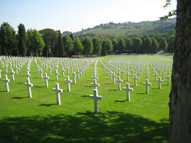 Florence American Cemetery and Memorial-4,398 tombs of soldiers that died liberating Italy in the Second World War