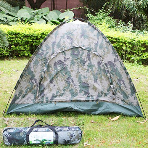 Folding 4 Person Tents Outdoor Camping Waterproof Four Seasons Tent with Bag -- Be sure to check out this awesome product.
