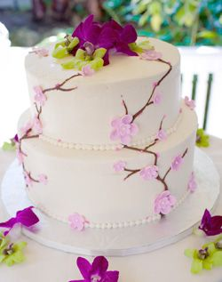 WeddingChannel Galleries: Pink Floral Wedding Cake