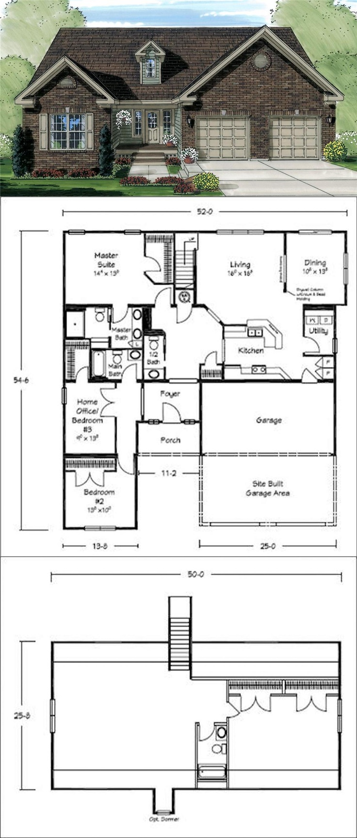 This floor plan has a great galley style kitchen for Cape cod style floor plans