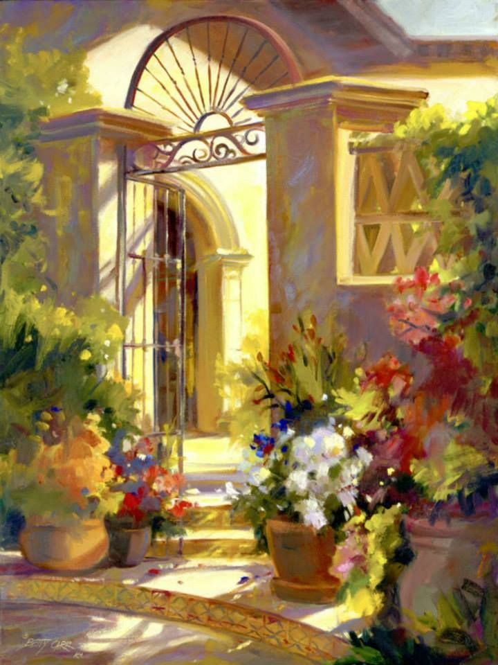 "Betty Carr ~ A ""Fragrant Entrance"" To A Beautiful Mediterranean Villa On The Sunny Riviera"