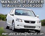 Servicio Honda Accord Coupe 2008 2009 Manual de Servicio y Reparación