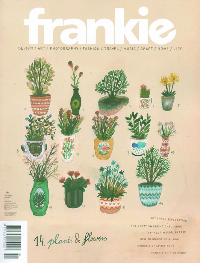 frankie mag - love the little plants