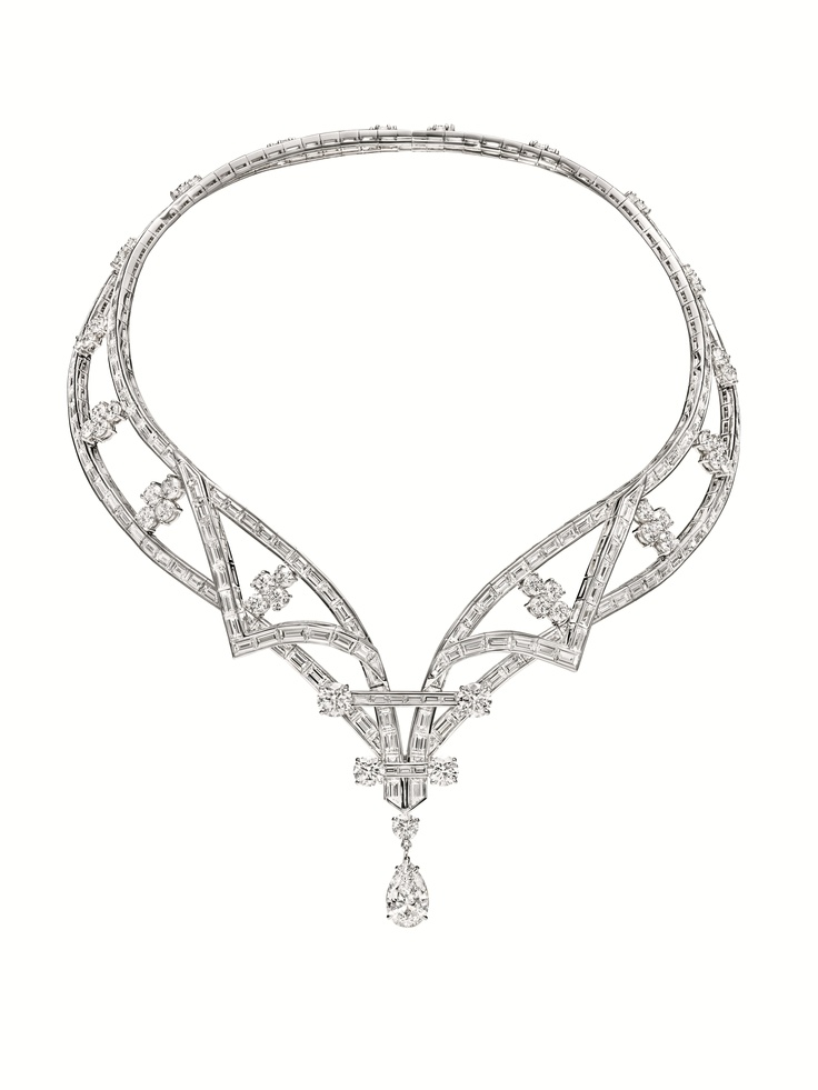 Deel Collection by Harry Winston, Diamond Cascading Drop Necklace