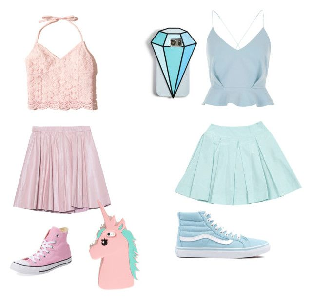 """""""•blue~pink•"""" by unikitty864 on Polyvore featuring 2NDDAY, Hollister Co., Converse, River Island, Prada, Vans and Celebrate Shop"""