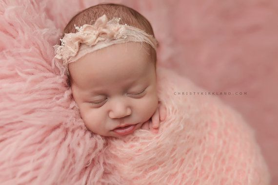 Neugeborene Foto Prop - Neugeborenen Stirnband. Neugeborene Raffhalter. Neugeborene Halo. Neugeborenen-Krone. Bio-Fotografie Requisiten, Creme, Pink, Pfirsich, Minze