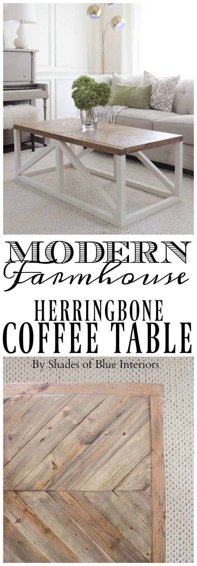 Modern Farmhouse Herringbone Coffee Table