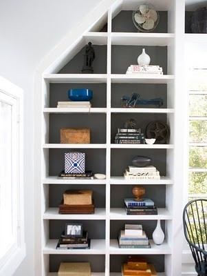 Pawleys Island Posh: painted bookshelves