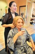 Our talented hair artists are looking forward to making you look your best in a relaxing, warm, and friendly atmosphere. We offer the latest trends in hair cuts, styles, color and treatments with quality hair products include L'Oreal and Goldwell Hair Colors, certified organic Lanza  hair care and Brazilian Blowout treatments and retail to assist in enhancing your features.https://medspaatvillagio.com/hair-salon