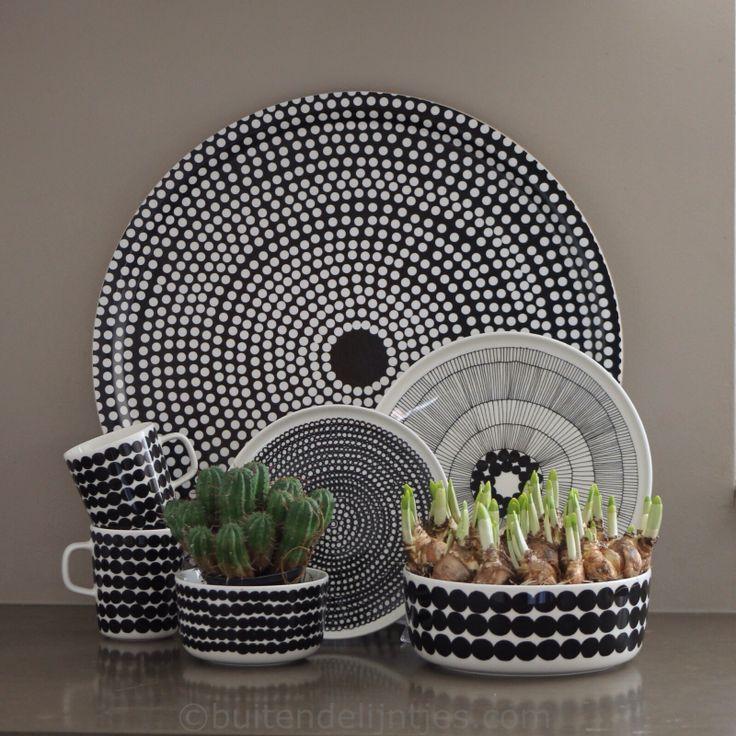 Marimekko zwart/wit servies