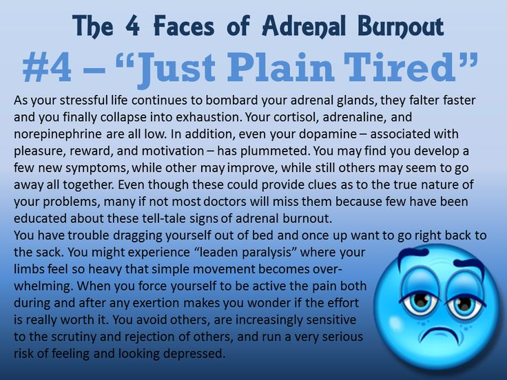 The 4 Faces of #Adrenal #Burnout http://www.integrativepsychiatry.net/adrenal_fatigue.html