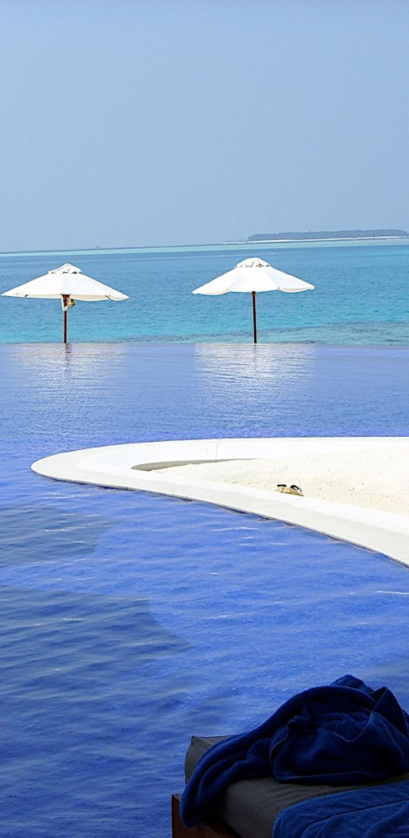 Sun Island Resort & Spa...Maldives..that's my umbrella on the right..:)