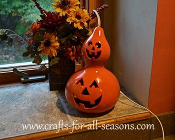 Learn the art of crafting with gourds - from Crafts For All Seasons