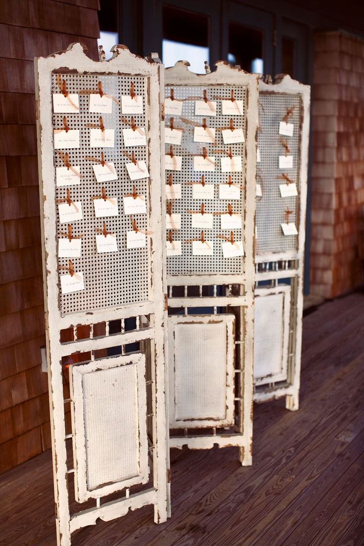 Weddings and Events Gold Coast: Vintage room divider, screens, table seating plan