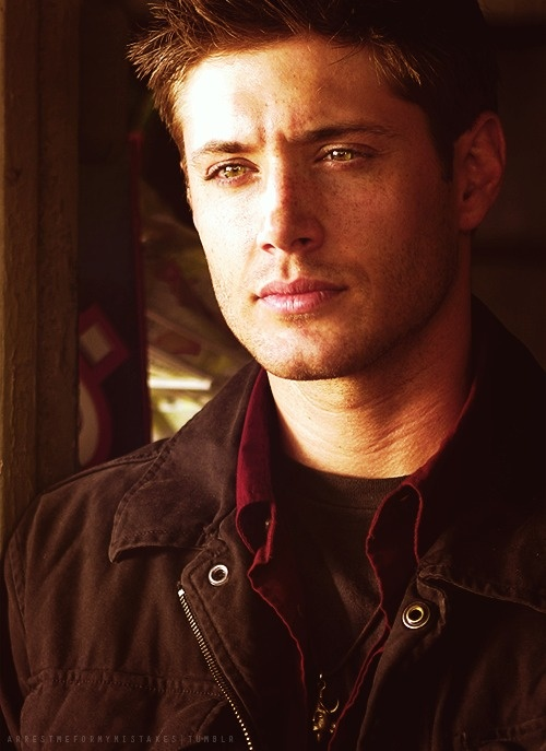 Jensen Ackles/ Dean Winchester.  So hot you can barely look at him; it's like looking at the sun...