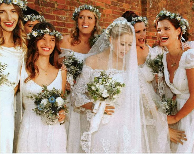 Peaches Geldof in Alberta Ferretti with prettiest grown up bridesmaid outfits too!