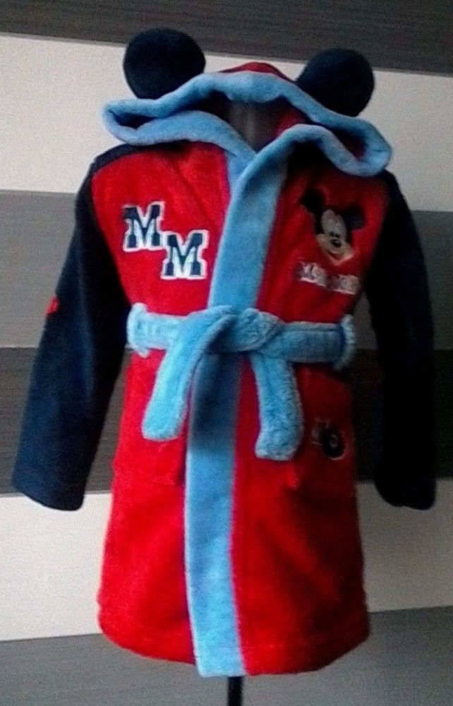 3670403e8 Baby Boys Dressing Gown Disney Store Mickey Mouse 12-18 months ...