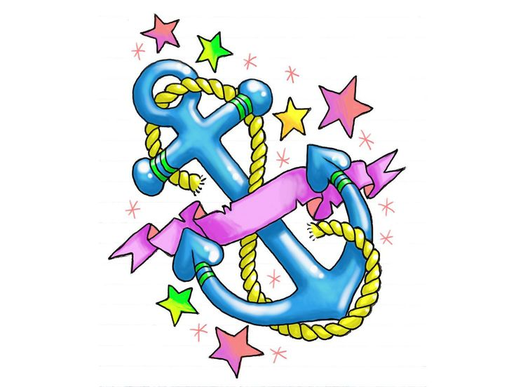 girly anchor tattoos girly anchor with stars and hearts tattoo wallpaper anchor tattoos. Black Bedroom Furniture Sets. Home Design Ideas