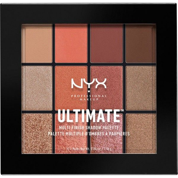 NYX PROFESSIONAL MAKEUP Ultimate multi-finish eyeshadow palette (155 HRK) ❤ liked on Polyvore featuring beauty products, makeup, eye makeup, eyeshadow, nyx eye shadow, palette eyeshadow, nyx eyeshadow and nyx