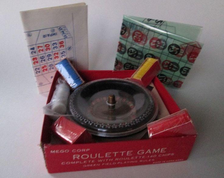 Vintage MINI ROULETTE Game MEGO CORP Hong Kong  CHIPS UNOPENED #MEGOCORPORATION