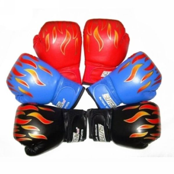 Kids Flame Boxing Gloves Punch For Beginner/'s Sparring Training Fight Mitts Gift
