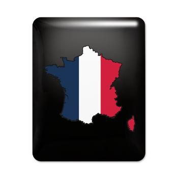 Flag Map of France iPad Case