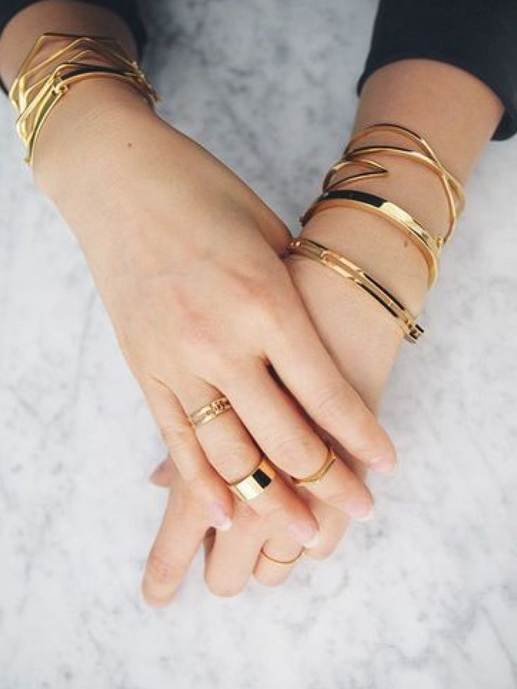 Layer Up!  #MayisGoldMonth #MIGM #KaratGold #Gold #Rings #Jewelry #FingerFrills