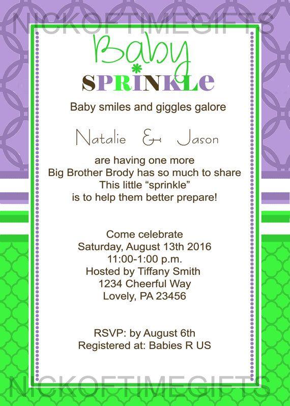 Baby Girl Sprinkle Shower Invitation Sprinkle Invitation
