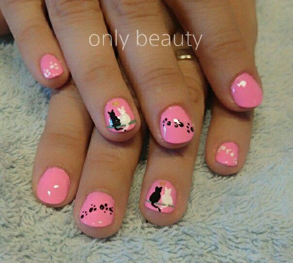 Cats nail art. #nails #manicure