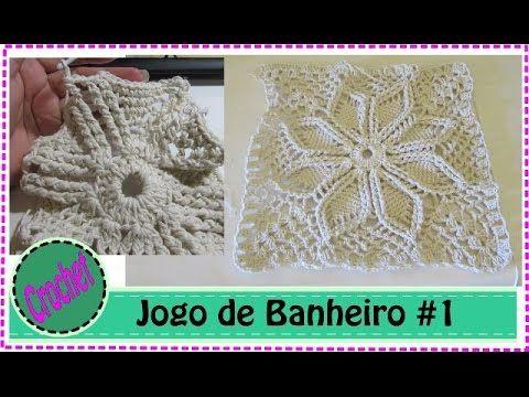 Tapete Flor em Crochê Detalhes - YouTube