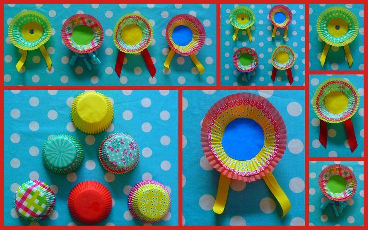 cupcake liner medailles