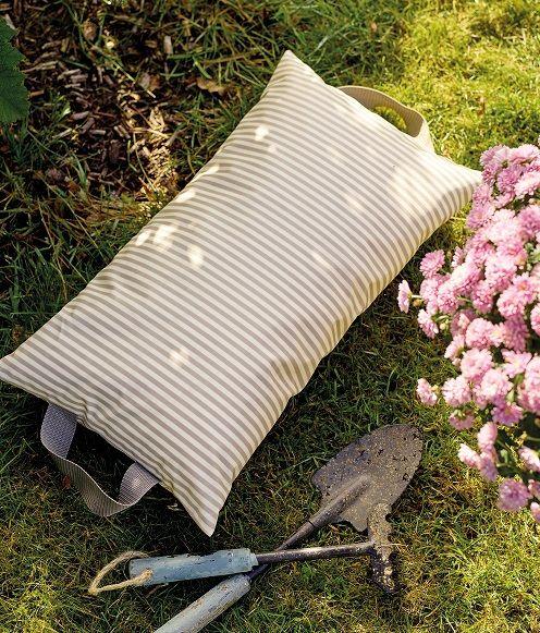 Tekstilvoksdug sand stribet garnfarvet
