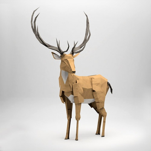 Jeremy Kool: 3D Sculptures  Anyone else see Prongs? I think I am spending too much time reading Harry Potter...