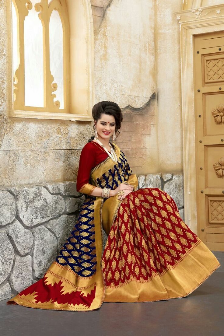 Rock The Ethnic Look in *LB* Stylish Banarasi  Silk Sarees! Look Like a Diva!  *Catalog Name* :- *Banarasi Silk New Pattern sari*